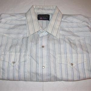 Panhandle Slim Western Shirt Pearl Snaps XXL 18